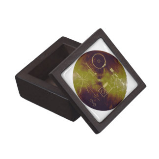 Voyager 1 and 2 Golden Record Sounds of Earth Premium Trinket Box