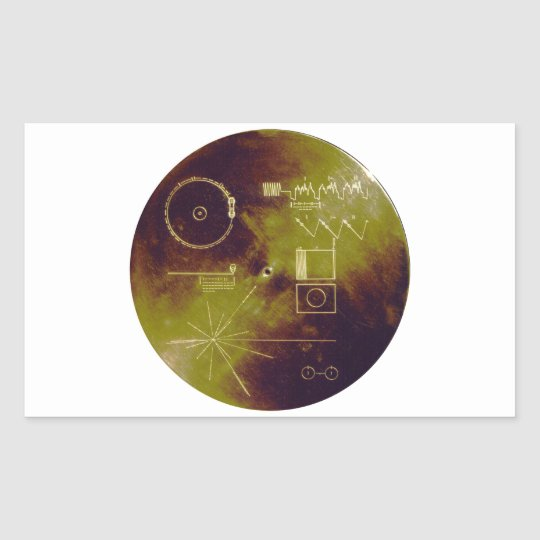 Voyager 1 and 2 Golden Record Sounds of Earth Rectangular Sticker