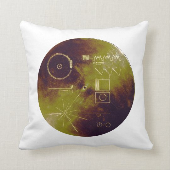 Voyager 1 and 2 Golden Record Sounds of Earth Throw Pillow