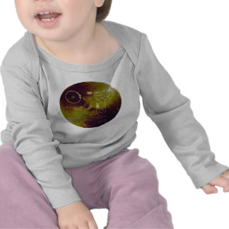 Voyager 1 and 2 Golden Record Sounds of Earth Tshirts