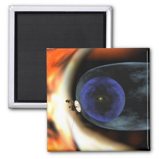 Voyager 2 spacecraft 2 inch square magnet