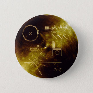 Voyager Golden Record Pinback Button