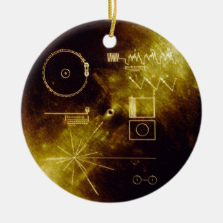 Voyager Message Ceramic Ornament