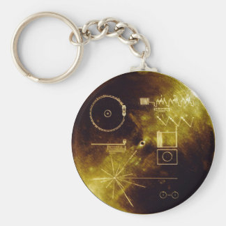 Voyager Message Basic Round Button Keychain