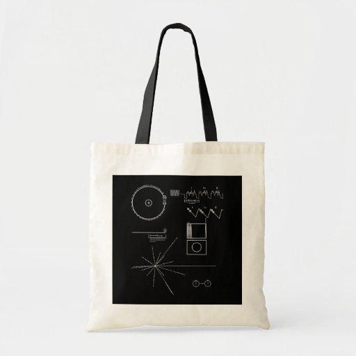 voyager message tote bag zazzle. Black Bedroom Furniture Sets. Home Design Ideas