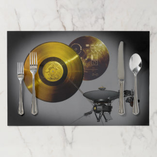 Voyager Spacecraft and Golden Record Paper Placemat