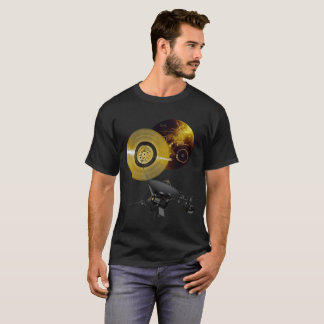 Voyager Spacecraft and Golden Record T-Shirt