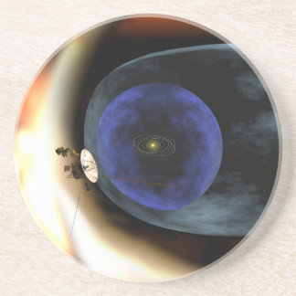 Voyager Squashes View of Solar System Drink Coaster