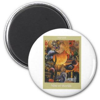 Voyager Tarot: 9 of  Worlds 2 Inch Round Magnet