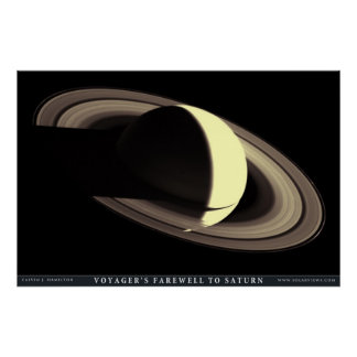 Voyager's Farewell to Saturn Poster