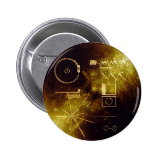 Voyager's Golden Record Pinback Button