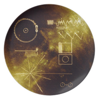 Voyager's Golden Record Dinner Plates