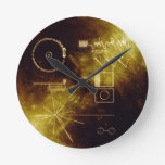 Voyager's Golden Record Round Clocks