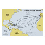 Voyages of Christopher Columbus Print