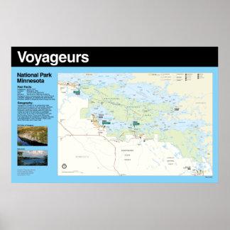 Voyageurs National Park Poster Map