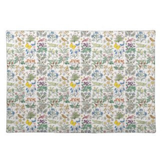 Voysey Apothecary Garden Pattern Place Mat Cloth Placemat