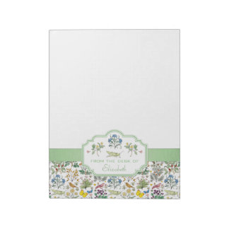Voysey Apothecary's Garden Custom Notepad