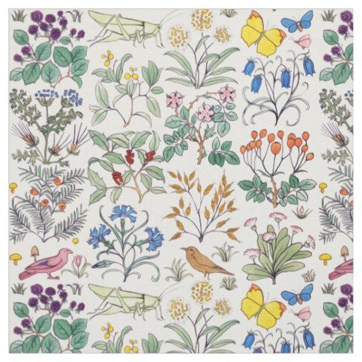 Voysey Apothecarys Garden Fabric Zazzle
