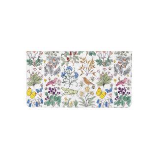 Voysey Apothecary's Garden Pattern Checkbook Cover