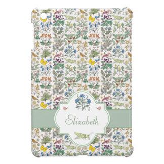 Voysey Apothecary's Garden Pattern Custom iPad Mini Cover