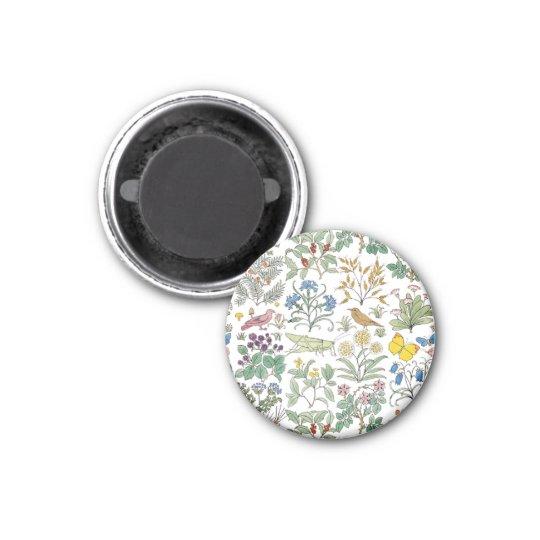 Voysey Apothecary's Garden Pattern Magnet