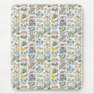 Voysey Apothecary's Garden Pattern Mousepad