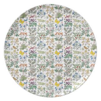 Voysey Apothecary's Garden Pattern Plate