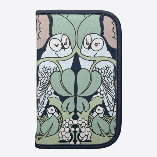 Voysey Art Nouveau Owl Nest Pattern Folio Planner Front