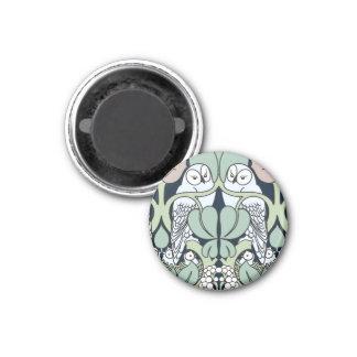 Voysey Art Nouveau Owl Nest Pattern Magnet
