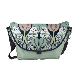 Voysey Art Nouveau Owls Nest Patten Messenger Bag