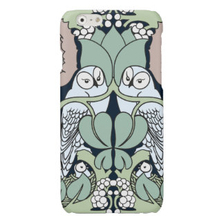 Voysey Owl Pattern Arts and Crafts Art Nouveau Glossy iPhone 6 Case