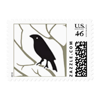 Voysey Rook and Holly Art Nouveau Postage Stamps