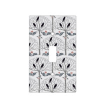 Voysey Rook and Holly Christmas Light Switch Cover