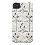Voysey Rook and Holly Christmas Pattern iPhone 4 Case-Mate Case