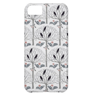 Voysey Rook and Holly Christmas Pattern iPhone 5C Case