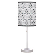 Voysey Rook and Holly Christmas Table Lamp