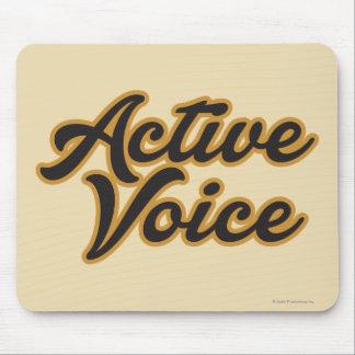 Voz activa alfombrilla de ratón