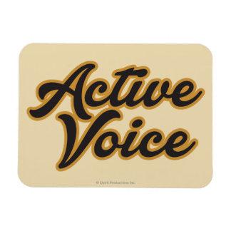 Voz activa iman de vinilo