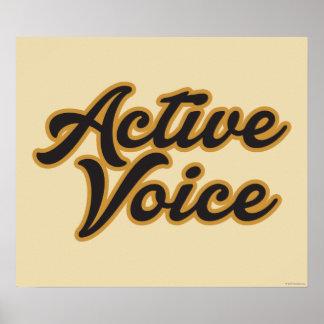 Voz activa póster