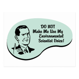 Voz ambiental del científico tarjeta postal
