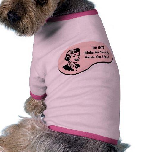 Voz de la fan del animado ropa para mascota