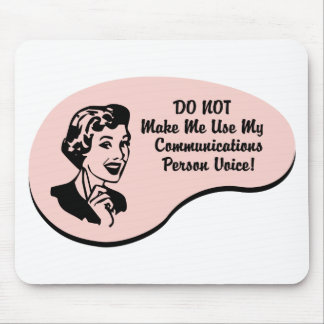 Voz de la persona de las comunicaciones alfombrilla de ratón
