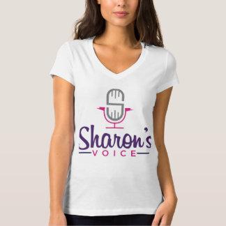 Voz de la voz de Sharon sobre la camiseta Playeras
