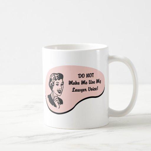Voz del abogado taza de café