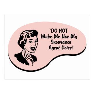Voz del agente de seguro tarjeta postal