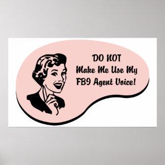 Voz del agente del FBI Posters