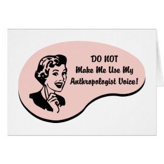 Voz del antropólogo tarjeta