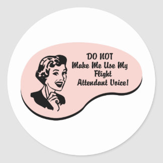 Voz del asistente de vuelo pegatina redonda