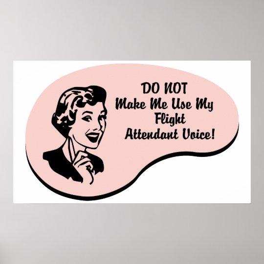 Voz del asistente de vuelo póster