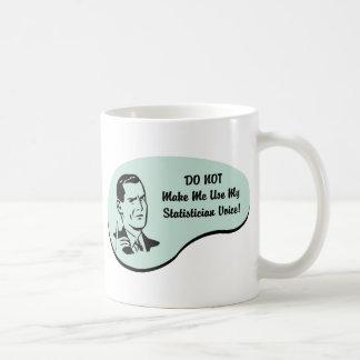 Voz del estadístico taza de café